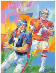 John Elway Denver Broncos Old/New Original Artwork