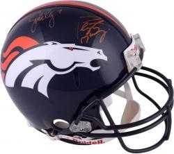 John Elway & Peyton Manning Autographed Proline Helmet