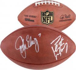 Dual Signed John Elway & Peyton Manning Denver Broncos Football
