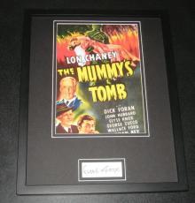 Elyse Knox Signed Framed 11x14 Photo Display JSA The Mummy's Tomb