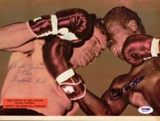 Emile Griffith & Andy Heilman Autographed Signed Magazine Page Photo PSA/DNA