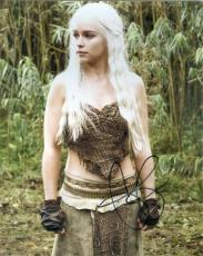 Emilia Clarke autographed 8x10 photo (Game of Thrones Daenerys Targaryen Ng) Water Damaged Discount
