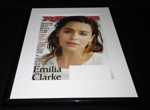 Emilia Clarke Framed 11x14 ORIGINAL 2017 Rolling Stone Magazine Cover GOT