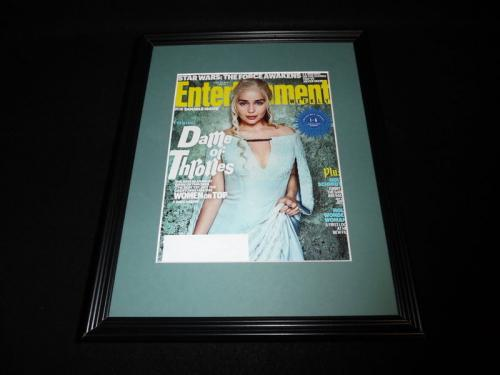 Emilia Clarke Framed ORIGINAL 2016 Entertainment Weekly Cover Game of Thrones