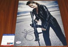 Emilia Clarke Signed 11x14 Terminator Sarah Connor Game of Thrones PSA/DNA
