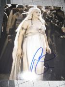 EMILIA CLARKE SIGNED AUTOGRAPH 8x10 GAME OF THRONES PROMO PHOTO IN PERSON COA F