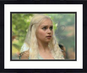 Emilia Clarke Signed Autograph 8x10 Photo - Daenerys Targaryen Game Of Thrones