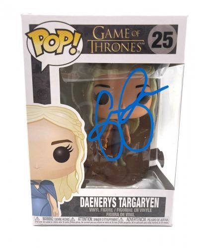 Emilia Clarke Signed Autograph 'game Of Thrones' Funko Pop Beckett Bas Got 12