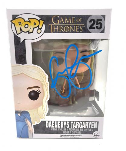 Emilia Clarke Signed Autograph 'game Of Thrones' Funko Pop Beckett Bas Got 17