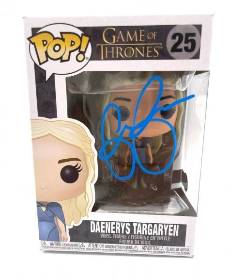Emilia Clarke Signed Autograph 'game Of Thrones' Funko Pop Beckett Bas Got 4