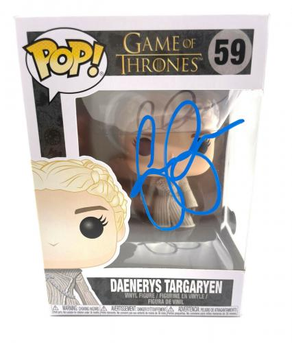 Emilia Clarke Signed Autograph 'game Of Thrones' Funko Pop Beckett Bas Got 5