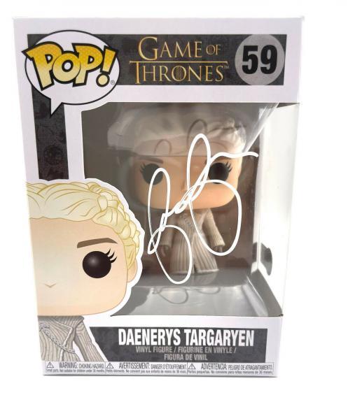 Emilia Clarke Signed Autograph 'game Of Thrones' Funko Pop Beckett Bas Got 7