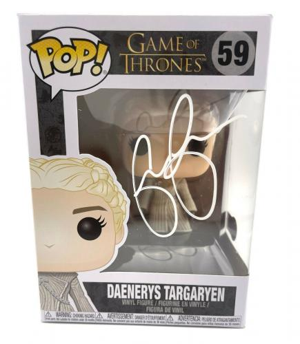 Emilia Clarke Signed Autograph 'game Of Thrones' Funko Pop Beckett Bas Got 9