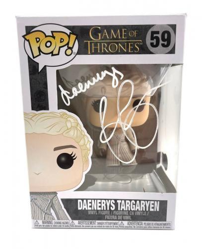 Emilia Clarke Signed Autograph 'game Of Thrones' Funko Pop Beckett Daenerys 1