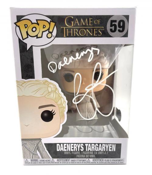 Emilia Clarke Signed Autograph 'game Of Thrones' Funko Pop Beckett Daenerys 2