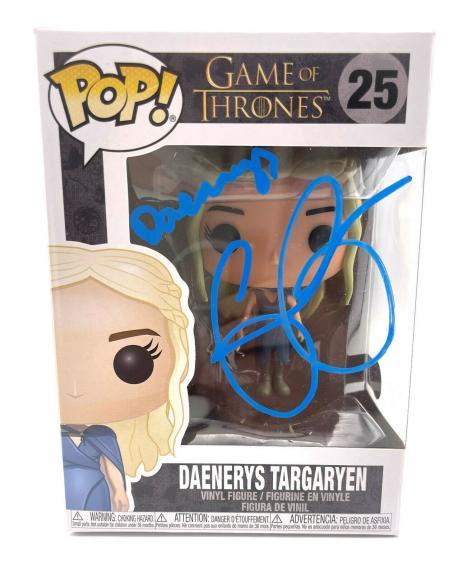 Emilia Clarke Signed Autograph 'game Of Thrones' Funko Pop Beckett Daenerys 3