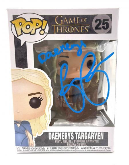 Emilia Clarke Signed Autograph 'game Of Thrones' Funko Pop Beckett Daenerys 4