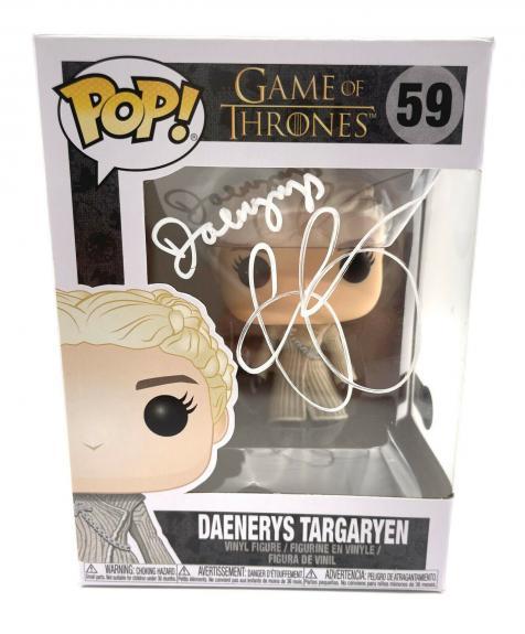 Emilia Clarke Signed Autograph 'game Of Thrones' Funko Pop Beckett Daenerys 5
