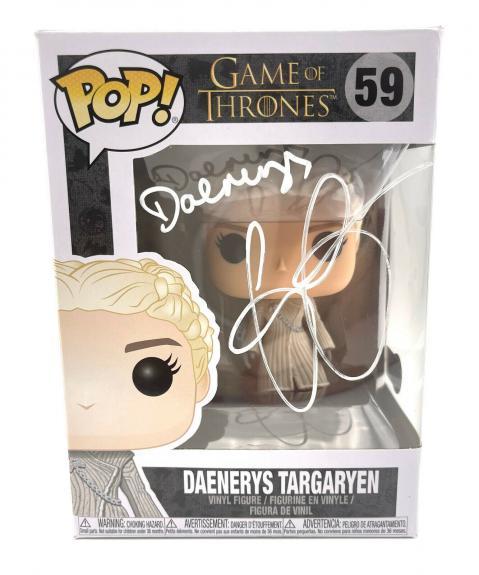 Emilia Clarke Signed Autograph 'game Of Thrones' Funko Pop Beckett Daenerys 6