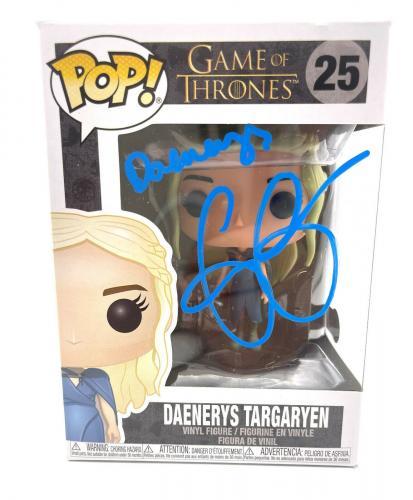 Emilia Clarke Signed Autograph 'game Of Thrones' Funko Pop Beckett Daenerys 7
