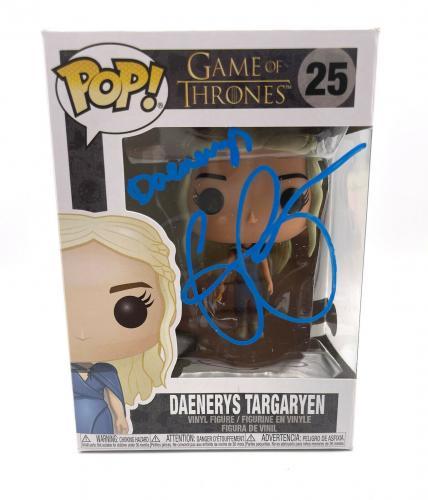 Emilia Clarke Signed Autograph 'game Of Thrones' Funko Pop Beckett Daenerys 8