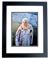 Emilia Clarke Signed - Autographed Game of Thrones - Daenerys Targaryen 8x10 inch Photo BLACK CUSTOM FRAME - Guaranteed to pass PSA or JSA
