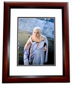 Emilia Clarke Signed - Autographed Game of Thrones - Daenerys Targaryen 8x10 inch Photo MAHOGANY CUSTOM FRAME - Guaranteed to pass PSA or JSA