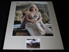 Emilia Clarke Signed Framed 16x20 Photo Display Game of Thrones Daenerys