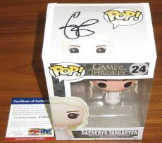 Emilia Clarke Signed Funko Pop Figure Game of Thrones Daenerys Targaryen PSA/DNA