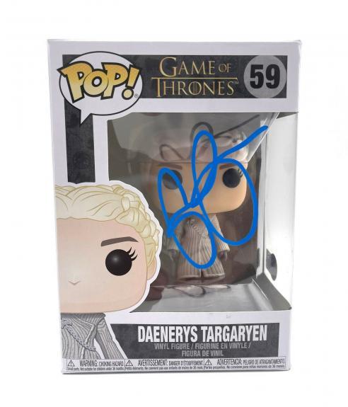 Emilia Clarke Signed 'game Of Thrones' Autograph Funko Pop Beckett Bas Got 1