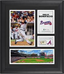 Emilio Bonifacio Atlanta Braves Framed 15'' x 17'' Collage with Piece of Game-Used Ball
