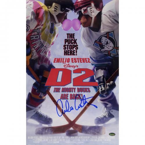 Emilio Estevez Signed 11x17 D2: Mighty Ducks Poster (SchwartzSports Auth)