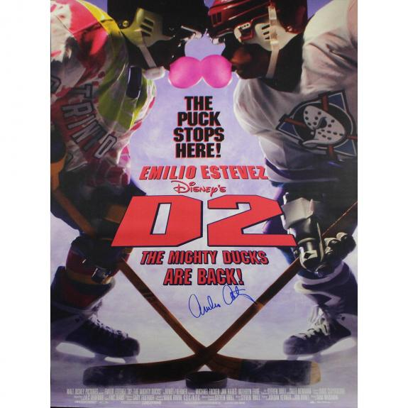 Emilio Estevez Signed Full Size D2: Mighty Ducks 27x40 Poster (SchwartzSports Auth)