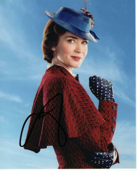Emily Blunt Signed Autographed 8x10 Photo - Sexy, Mary Poppins Returns, Disney