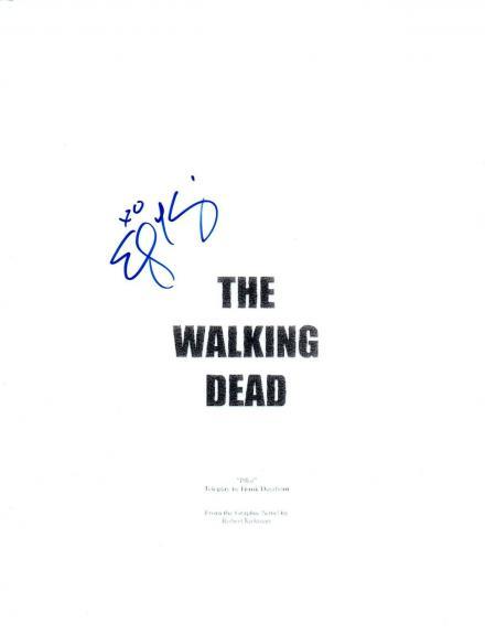 Emily Kinney Signed Autographed THE WALKING DEAD Pilot Episode Script COA