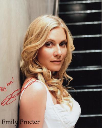 EMILY PROCTER HAND SIGNED 8x10 PHOTO+COA      GORGEOUS ACTRESS FROM CSI:MIAMI