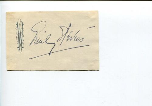 Emily Stevens Early Broadway Theater Actress Signed Autograph