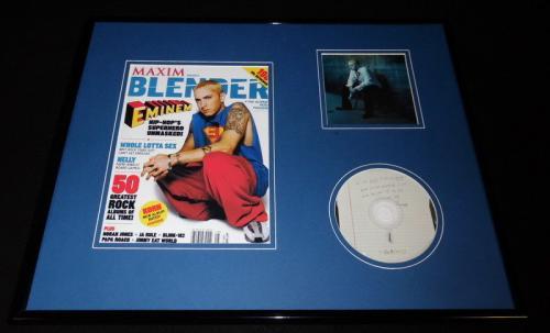 Eminem 16x20 Framed CD & Blender Magazine Cover Display