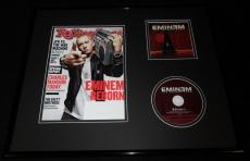 Eminem 16x20 Framed Eminem Show CD & 2013 Rolling Stone Display