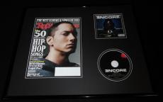 Eminem 16x20 Framed Encore CD & 2012 Rolling Stone Display