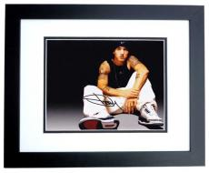 Eminem Autographed Rapper Rap 8x10 Photo as SHADY - aka Slim Shady - Marshall Mathers BLACK CUSTOM FRAME