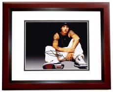 Eminem Autographed Rapper Rap 8x10 Photo as SHADY - aka Slim Shady - Marshall Mathers MAHOGANY CUSTOM FRAME