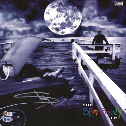 Eminem Autographed The Slim Shady Album Cover with Vinyl - BAS