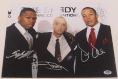 Eminem Dr. Dre 50 Cent Signed 11x14 Photo Shady Authentic Autograph Psa/dna Coa