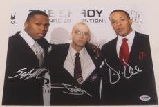 Eminem Dr. Dre 50 Cent Signed 11x14 Photo Shady Authentic Autograph Psa/dna Coa