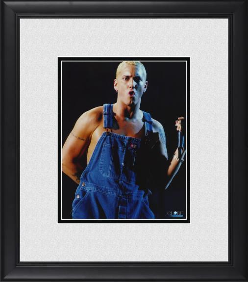 """Eminem Framed 8"""" x 10"""" Performing in Overalls Photograph"""