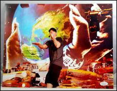 Eminem Marshall Mathers Autograph Signed 11x14 Photo Picture Rap Jsa Coa Loa