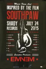 Eminem Marshall Mathers Signed Shady 24x36 Southpaw Album Poster JSA Y93561