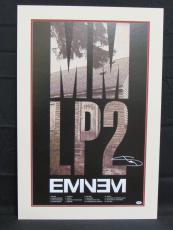 Eminem Shady Signed Auto Autograph 24x36 MM LP2 Poster PSA/DNA Z00571