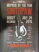 Eminem Shady Signed Auto Autograph 24x36 Southpaw Poster JSA Y93557